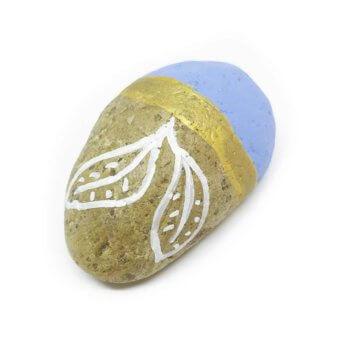 Wedding Stone - Handbemalter Stein in Blau