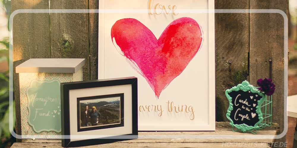 Individuelle Hochzeitsgeschenke - Personalisierte Hochzeitsgeschenke mit Gravur